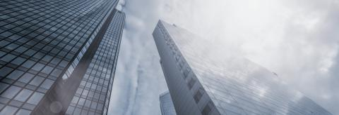 low angle view of modern business skyscrapers, including copy space- Stock Photo or Stock Video of rcfotostock | RC-Photo-Stock