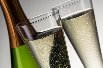 luxury champagne with dewdrops and bottle- Stock Photo or Stock Video of rcfotostock | RC-Photo-Stock