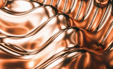 Luxury wavy copper background. 3d illustration, 3d rendering- Stock Photo or Stock Video of rcfotostock | RC-Photo-Stock
