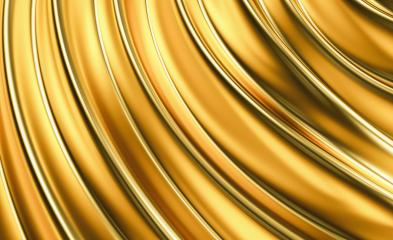 Luxury wavy golden background. 3d illustration, 3d rendering.- Stock Photo or Stock Video of rcfotostock | RC-Photo-Stock