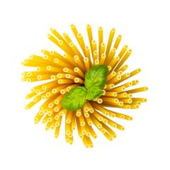 macaroni noodels twister with basil- Stock Photo or Stock Video of rcfotostock | RC-Photo-Stock