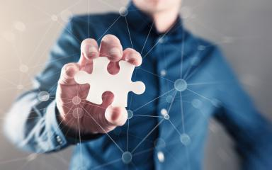 Man Hand Holding Puzzle Piece- Stock Photo or Stock Video of rcfotostock | RC-Photo-Stock