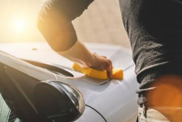 Man hold sponge for car wash- Stock Photo or Stock Video of rcfotostock | RC-Photo-Stock