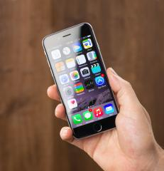 man shows iphone 6- Stock Photo or Stock Video of rcfotostock | RC-Photo-Stock