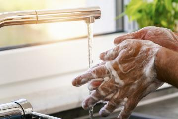 man washing hands under water with soap- Stock Photo or Stock Video of rcfotostock | RC-Photo-Stock