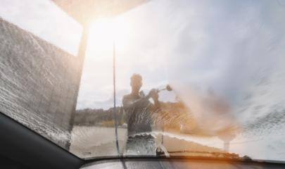 man washing his car under high pressure water outdoors. copyspace for your individual text.- Stock Photo or Stock Video of rcfotostock   RC-Photo-Stock