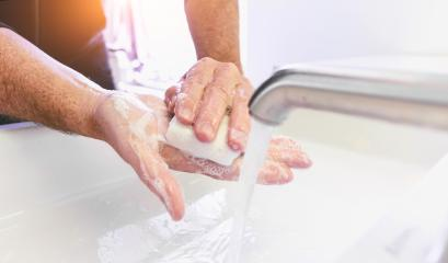 Man washing his Hands to prevent virus infection and clean dirty hands - corona covid-19 concept- Stock Photo or Stock Video of rcfotostock | RC-Photo-Stock