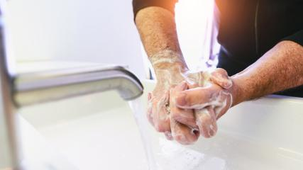 Man washing his Hands to prevent virus infection and clean dirty hands - corona covid-19 concept : Stock Photo or Stock Video Download rcfotostock photos, images and assets rcfotostock | RC-Photo-Stock.: