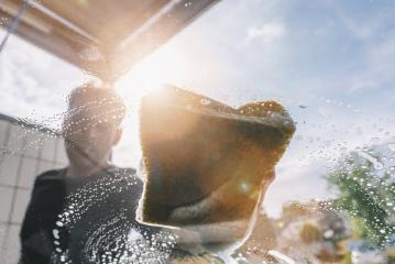 Man worker washing car by sponge : Stock Photo or Stock Video Download rcfotostock photos, images and assets rcfotostock | RC-Photo-Stock.: