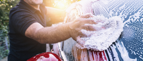 Man worker washing car on a car wash - Stock Photo or Stock Video of rcfotostock | RC-Photo-Stock