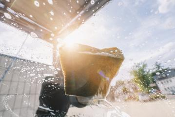 Manual car wash with sponge- Stock Photo or Stock Video of rcfotostock | RC-Photo-Stock