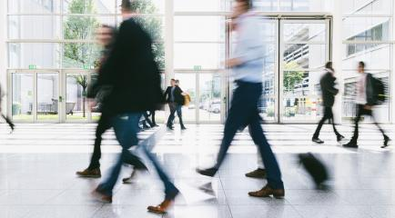 Many anonymous blurred people go on trade fair or in mall- Stock Photo or Stock Video of rcfotostock | RC-Photo-Stock