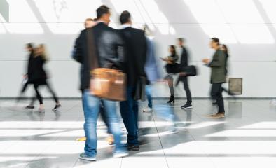 Many anonymous blurred people go on trade fair or in mall : Stock Photo or Stock Video Download rcfotostock photos, images and assets rcfotostock | RC-Photo-Stock.: