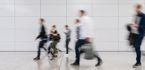 Many anonymous blurred people go shopping in the mall or airport- Stock Photo or Stock Video of rcfotostock | RC-Photo-Stock