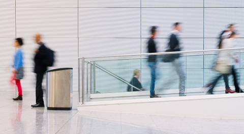 Many anonymous business people are walking through a bright corridor in the modern office : Stock Photo or Stock Video Download rcfotostock photos, images and assets rcfotostock | RC-Photo-Stock.: