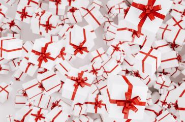 many christmas gifts or presents with red ribbon : Stock Photo or Stock Video Download rcfotostock photos, images and assets rcfotostock | RC-Photo-Stock.: