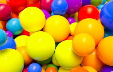 many colored plastic balls in a children's playroom - 3D Rendering- Stock Photo or Stock Video of rcfotostock | RC-Photo-Stock