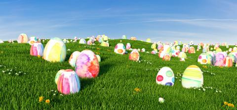 Many colorful easter eggs in the grass of a meadow for easter, copy space for individual text : Stock Photo or Stock Video Download rcfotostock photos, images and assets rcfotostock | RC-Photo-Stock.: