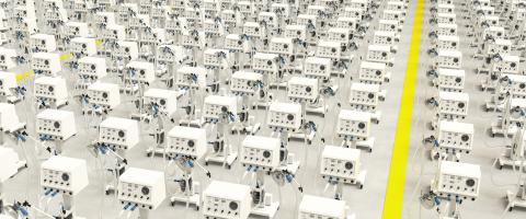 Many new ventilators in the warehouse of a medical technology factory due to the SARS cov 2 infection Covid-19 coronavirus epidemic  : Stock Photo or Stock Video Download rcfotostock photos, images and assets rcfotostock | RC-Photo-Stock.:
