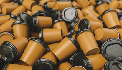 many of empty to go coffee cups- Stock Photo or Stock Video of rcfotostock | RC-Photo-Stock