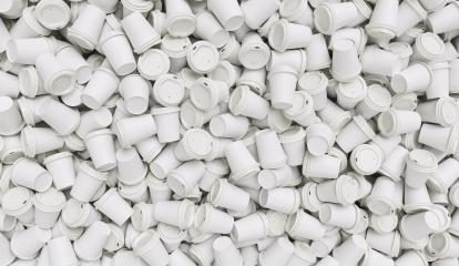 many of empty white to go coffee cups- Stock Photo or Stock Video of rcfotostock | RC-Photo-Stock