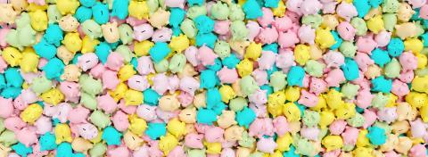 many of pastel piggy banks, banner size- Stock Photo or Stock Video of rcfotostock | RC-Photo-Stock