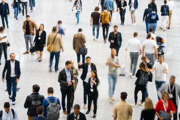 Many people as a crowd in the mall or at a trade fair- Stock Photo or Stock Video of rcfotostock | RC-Photo-Stock