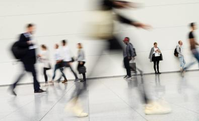 Many people in the airport or at the trade fair - Stock Photo or Stock Video of rcfotostock | RC-Photo-Stock