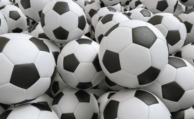 Many Soccer balls - 3D Rendering : Stock Photo or Stock Video Download rcfotostock photos, images and assets rcfotostock | RC-Photo-Stock.: