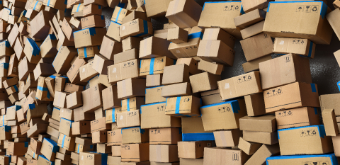 Many stacked Cardboard boxes and boxes bevore moving to delivery. logistics and delivery concept image- Stock Photo or Stock Video of rcfotostock | RC-Photo-Stock