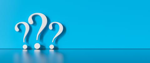 many White question marks on a blue background with empty copy space on left side. 3D Rendering- Stock Photo or Stock Video of rcfotostock | RC-Photo-Stock