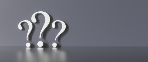 many White question marks on a dark gray background with empty copy space on left side. 3D Rendering- Stock Photo or Stock Video of rcfotostock | RC-Photo-Stock