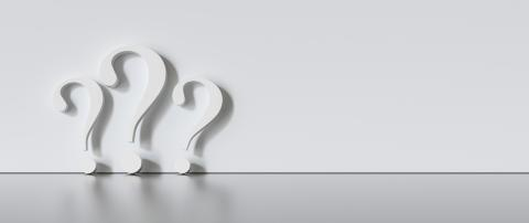 many White question marks on a gray background with empty copy space on left side. 3D Rendering- Stock Photo or Stock Video of rcfotostock | RC-Photo-Stock