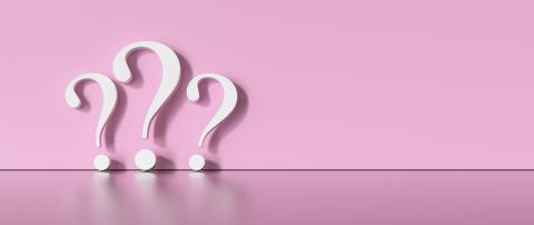 many White question marks on a pink background with empty copy space on left side. 3D Rendering- Stock Photo or Stock Video of rcfotostock | RC-Photo-Stock
