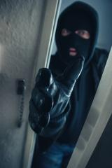 masked burglar entering a victim's home door : Stock Photo or Stock Video Download rcfotostock photos, images and assets rcfotostock | RC-Photo-Stock.: