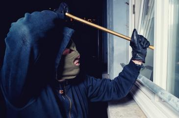 masked burglar opens a window with a crowbar- Stock Photo or Stock Video of rcfotostock | RC-Photo-Stock