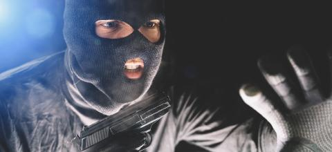 Masked burglar with pistol gun breaking and entering into a victim's home  : Stock Photo or Stock Video Download rcfotostock photos, images and assets rcfotostock | RC-Photo-Stock.: