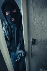 masked stalker at victim's home door : Stock Photo or Stock Video Download rcfotostock photos, images and assets rcfotostock | RC-Photo-Stock.: