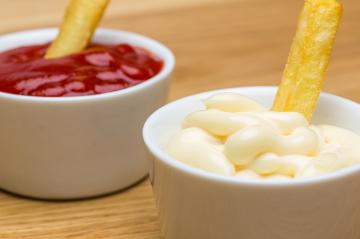mayonnaise and ketchup for fries Close-up- Stock Photo or Stock Video of rcfotostock | RC-Photo-Stock