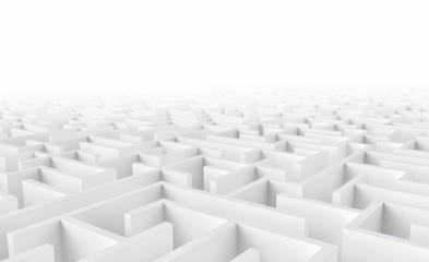 maze in top view, copyspace for your individual text - 3d rendering - Stock Photo or Stock Video of rcfotostock | RC-Photo-Stock