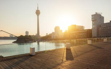 Media harbor at dusseldorf in the morning light- Stock Photo or Stock Video of rcfotostock   RC-Photo-Stock