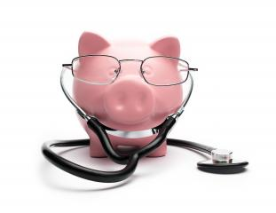 medical Piggy Bank with Stethoscope - Stock Photo or Stock Video of rcfotostock | RC-Photo-Stock