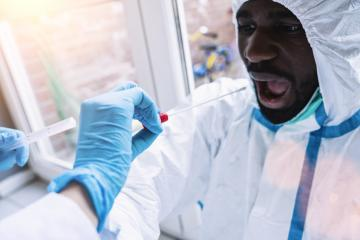 Medical professional in protective clothing takes COVID-19 swab test tube kit at Covid-19 test center during coronavirus epidemic. PCR DNA testing protocol process.- Stock Photo or Stock Video of rcfotostock | RC-Photo-Stock