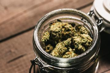 Medicinal Marijuana or Cannabis Buds in a jar- Stock Photo or Stock Video of rcfotostock | RC-Photo-Stock