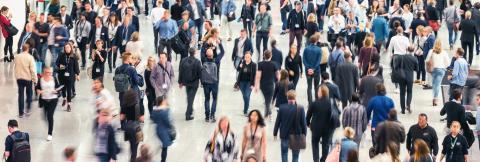 Menschenmenge mit vielen anonymen Leuten auf einer Messe- Stock Photo or Stock Video of rcfotostock | RC-Photo-Stock