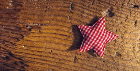 Merry Christmas star on wooden background - panoramic banner- Stock Photo or Stock Video of rcfotostock | RC-Photo-Stock