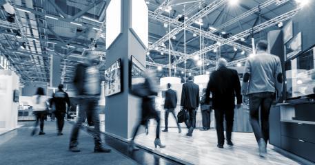 Messestand auf einer Messe in einer Messehalle  : Stock Photo or Stock Video Download rcfotostock photos, images and assets rcfotostock | RC-Photo-Stock.: