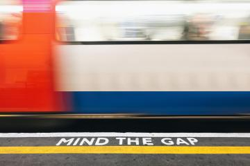 Mind the Gap, London underground. copy space for individual text : Stock Photo or Stock Video Download rcfotostock photos, images and assets rcfotostock | RC-Photo-Stock.: