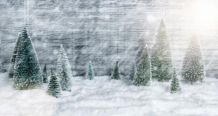 Miniature snowy winter Forest Landscape, with copy space, christmas concept image- Stock Photo or Stock Video of rcfotostock | RC-Photo-Stock