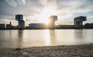 Modern business buildings with dramatic sky- Stock Photo or Stock Video of rcfotostock | RC-Photo-Stock